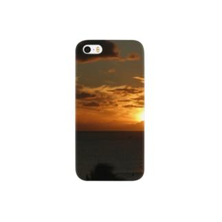 南国の美しい夕暮れ Smartphone cases