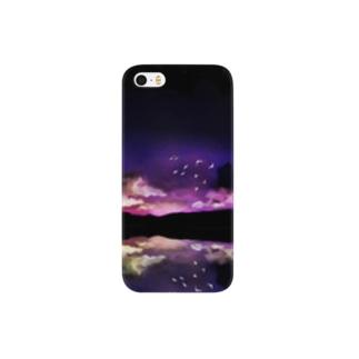 水鏡の夜明け Smartphone cases