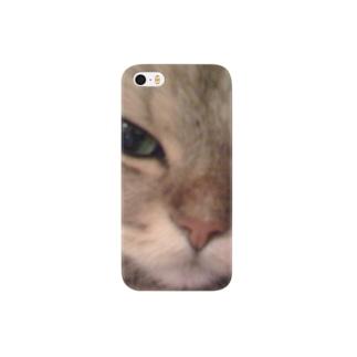 愛猫モモのどアップ画! Smartphone cases