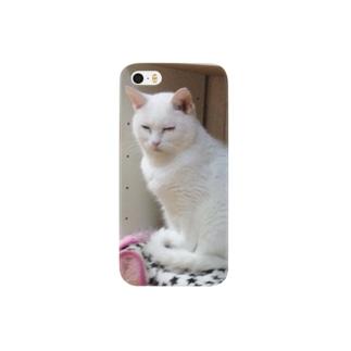 保護猫しろ子。 スマートフォンケース