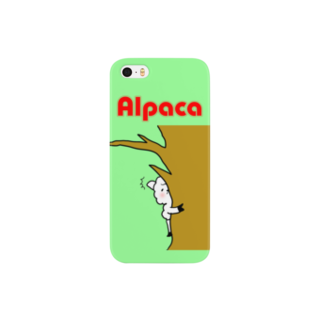 ぷりてぃアルパカ スマートフォンケース