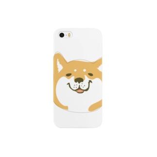 柴犬こうめ「(笑)」 Smartphone cases