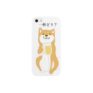 柴犬こうめ「一杯どう?」 Smartphone cases