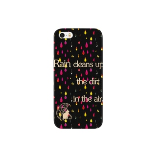 Cat in a Rainy Day Smartphone cases