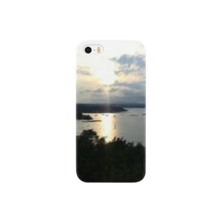 夕焼けの景観 Smartphone cases