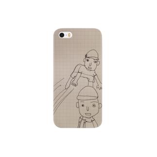 友人のためのスマホケース(たけちゃんのイメージする馬跳び) Smartphone cases