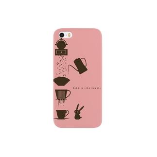 らびすいスマホケース(ピンク) Smartphone cases