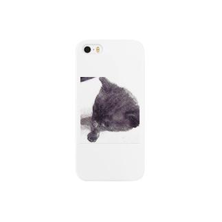 黒猫『ココア』 Smartphone cases