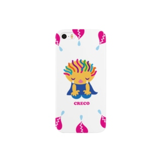 ハートがガビーンのクレコちゃん Smartphone cases