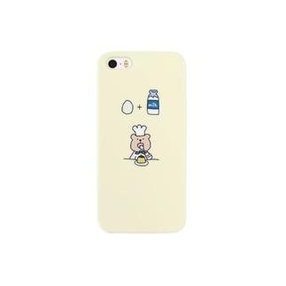 くまさんぷりん Smartphone cases