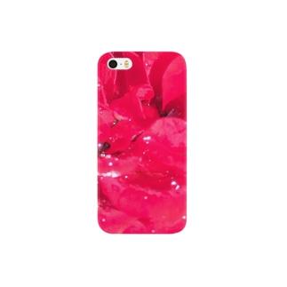 雨上がりの薔薇 Smartphone cases