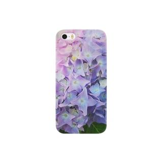 淡い紫陽花 Smartphone cases