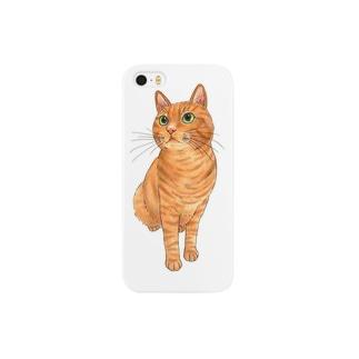 茶トラ猫 Smartphone cases
