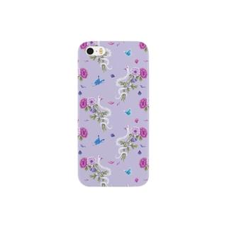 anemone(lavender) スマートフォンケース