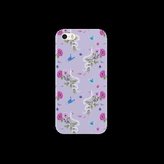 Fanfleecyのanemone(lavender) Smartphone cases