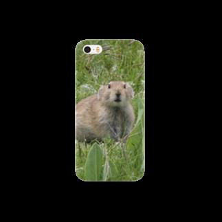 ゆきうさぎ工房のにこにこナキウサギ Smartphone cases