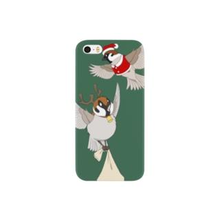 チュンチュンクリスマス Smartphone cases