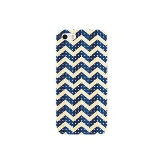 Chevron Blue スマートフォンケース