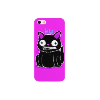 Black Cat Hot Pink Smartphone cases