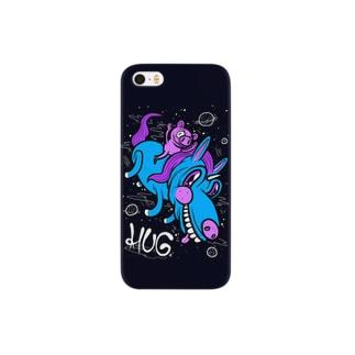 Pig & Unicorn Black スマートフォンケース