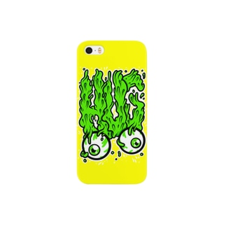 HUG Slime Logo Yellow スマートフォンケース