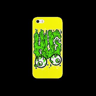 HUGオフォシャルショップのHUG Slime Logo Yellowスマートフォンケース