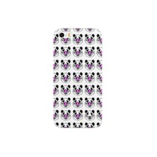 Pandrew Dots White スマートフォンケース