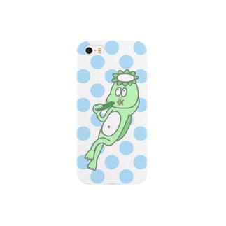 きゅうりを食べるかっぱ Smartphone cases