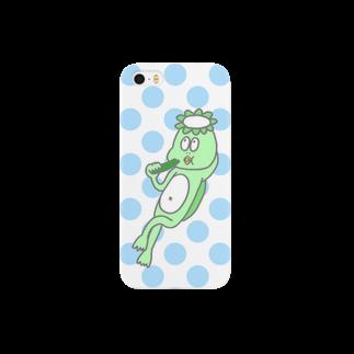 エダマメのきゅうりを食べるかっぱ Smartphone cases