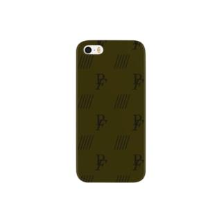 小動物lovesFIATのFIAT_PANDAモノグラム【LightBrown】 Smartphone cases