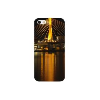青森ベイブリッジ(Gold) Smartphone cases