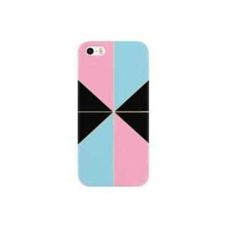 ピンク水色 Smartphone cases