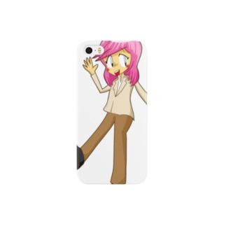 すみれのグッズ Smartphone cases