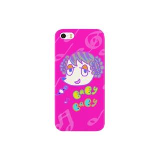 峯犬 BABY BABY-POP1 ローズ Smartphone cases