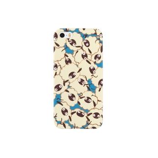 ぎゅうぎゅうメリー(ブルー) Smartphone cases