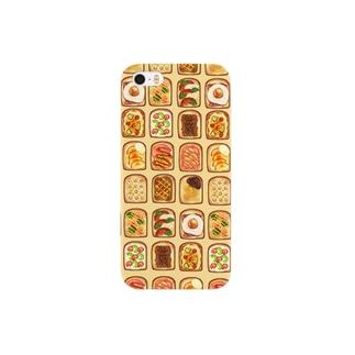 食パンiPhoneイエロー スマートフォンケース