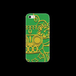 ε=(吉田肉)=3のばろんくんグリーン Smartphone cases