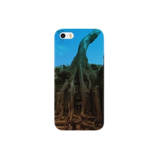 Blue sky in angkor wat Smartphone cases