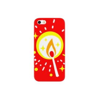 マッチの灯(星) スマートフォンケース