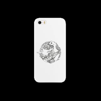 BANの食物連鎖 シャチ×アザラシ×サカナ Smartphone cases