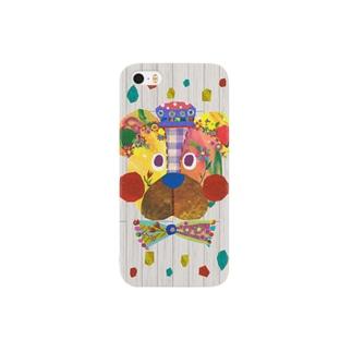 花園クマさんカバー Smartphone cases