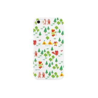 森でキャンプ/iphoneケース スマートフォンケース