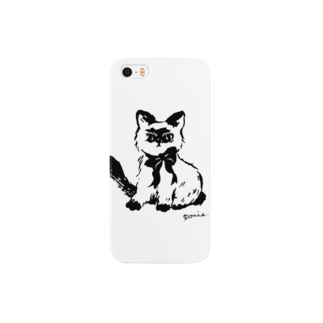 ponieの不機嫌なネコ スマートフォンケース