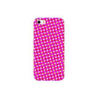 ♡カラフルピンクドット♡ Smartphone cases