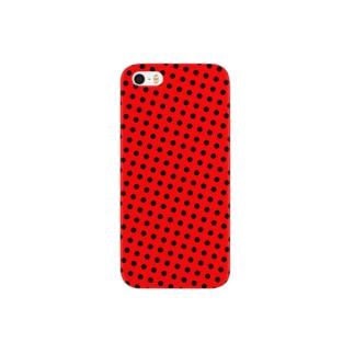 赤いドット Smartphone cases