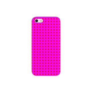 ピンク色のドット Smartphone cases