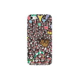 メニー?クリスマス『プレゼント準備中』パステル Smartphone cases