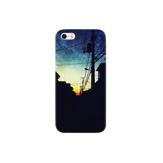 夕暮れの宇宙。 Smartphone cases