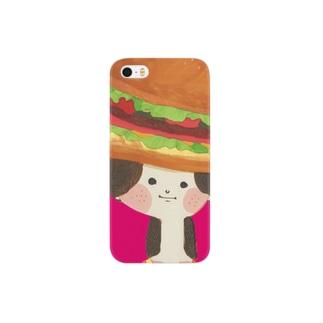 池田蔵人のバーガーハット Smartphone cases