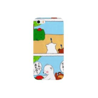 ボール【しろくま4コマ】 Smartphone cases